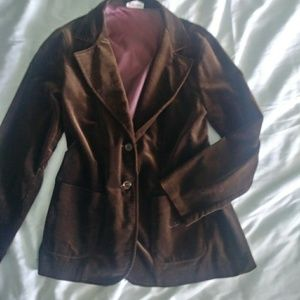 Jackets & Blazers - Medium Vintage Cos Cob Velvet Blazer Jacket